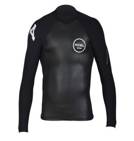 XCEL Xcel Infiniti Smoothskin Wetsuit Top 2mm Black Large Mens