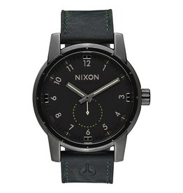 Nixon Nixon Patriot Leather Watch Gunmetal / Surplus