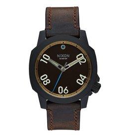 Nixon Nixon Ranger 40 Leather Watch All Black / Brass / Brown