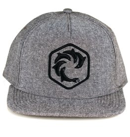 WRV WRV Hex Snapback Hat Heather Grey