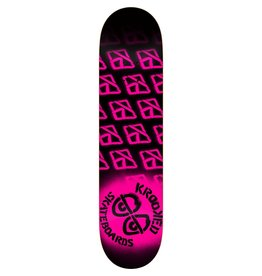 EASTERN SKATE SUPPLY KROOKED DIFFUSED SM DECK-7.75 BLK/NEON PINK