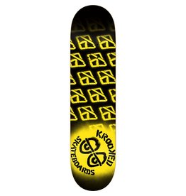 EASTERN SKATE SUPPLY KROOKED DIFFUSED LG DECK-8.25 BLK/NEON YEL