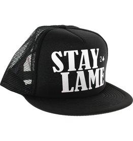 Lowcard Lowcard Stay Lame Standard Mesh Hat Adjustable Black
