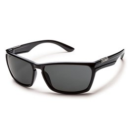 Suncloud Suncloud Cutout Sunglasses Frame Black Lens Gray Polarized Polycarbonate