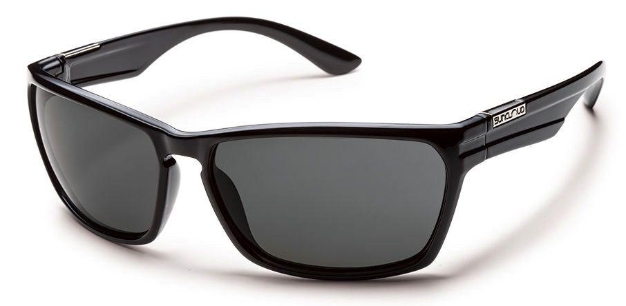 Suncloud Suncloud Cutout Sunglasses Frame Black Lens Gray Polarized Polycarbonate