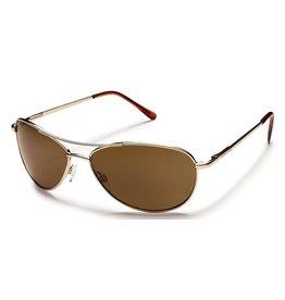 Suncloud Suncloud Patrol Sunglasses Frame Gold Lens Brown Polarized Polycarbonate