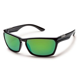 Suncloud Suncloud Cutout Sunglasses Black Lens Green Mirror Polarized Polycarbonate