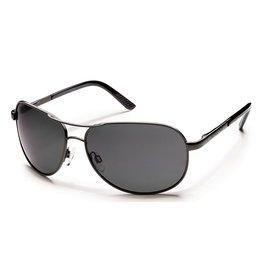 Suncloud Suncloud Avaitor Gunmetal Lens Gray Polarized Polycarbonate Sunglasses