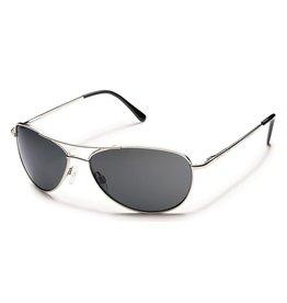 Suncloud Suncloud Patrol Sunglasses Silver Lens Gray Polarized Polycarbonate