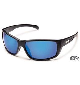 Suncloud Suncloud Milestone Sunglasses Matte Black Lens Blue Mirror Polarized Polycarbonate