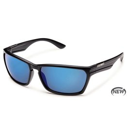 Suncloud Suncloud Cutout Sunglasses Matte Black Lens Blue Mirror Polarized Polycarbonate
