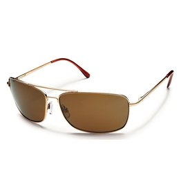 Suncloud Suncloud Aviator Sunglasses Gold Lens Brown Polarized Polycarbonate