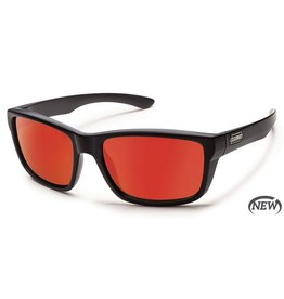 Suncloud Suncloud Mayor Sunglasses Matte Black Lens Red Mirror Polarized Polycarbonate