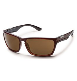 Suncloud Suncloud Cutout Sunglasses Burnished Brown Lens Brown Polarized Polycarbonate