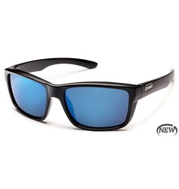 Suncloud Suncloud Mayor Sunglasses Frame Black Lens Blue Mirror Polarized Polycarbonate