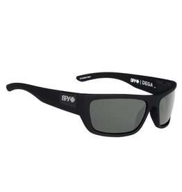 Spy Optic Spy Dega Soft Matte Black Frame Happy Grey Green Polar Sunglasses