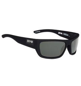 Spy Optic Spy Dega Matte Black Frame Happy Grey Green Sunglasses