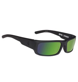 Spy Optic Spy Caliber Soft Matte Black Frame Happy Bronze Polar w/Green Spectra Sunglasses