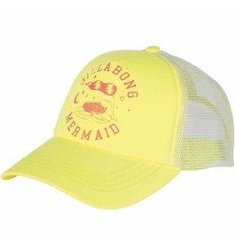 Billabong Billabong Mermaid Trucker Hat Yellow White Youth Girls