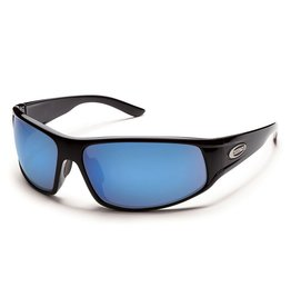 Suncloud Suncloud Warrant Sunglasses Black Frame Blue Mirror Polarized Polycarbonate Lens