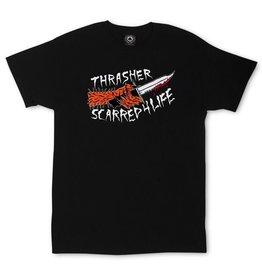 Thrasher Thrasher Scarred T-Shirt, L, Black