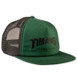 Thrasher Thrasher Embroidered Logo Mesh Snapback Cap Green/Black