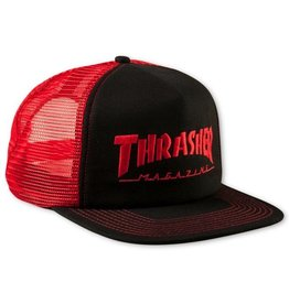Thrasher Thrasher Embroidered Logo Mesh Snapback Cap Black/Red