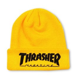 Thrasher Thrasher Embroidered Logo Beanie Yellow/Black