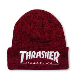Thrasher Thrasher Embroidered Logo Beanie Red/White