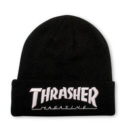 Thrasher Thrasher Embroidered Logo Beanie Black/White