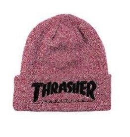Thrasher Thrasher Embroidered Logo Beanie Maroon/Black
