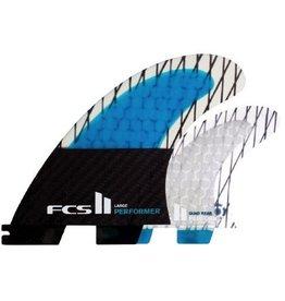 FCS FCS II Performer PC Carbon Quad Set Large Surfboard Fins