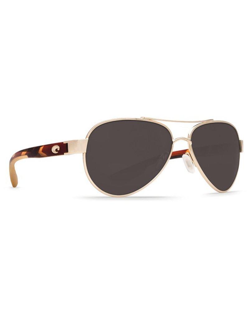 COSTA Costa Loreto Sunglasses Rose Gold Polarized Plastic Gray 580P