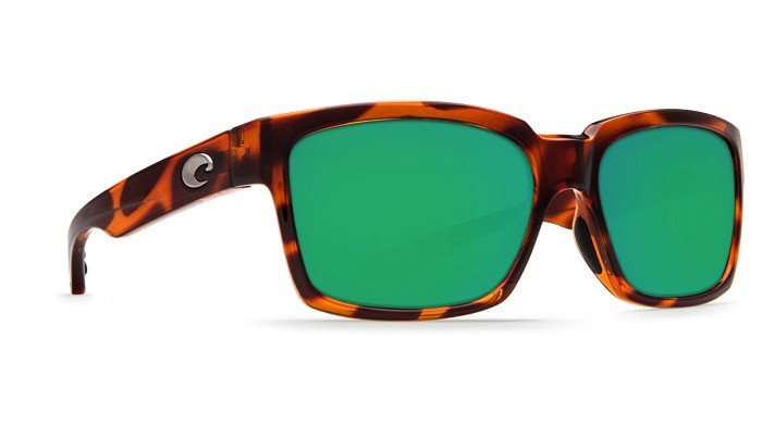 COSTA Costa Playa Sunglasses Honey Tortoise Polarized Plastic Green Mirror 580P