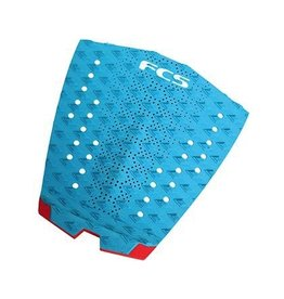 FCS FCS Traction Essential Series T-1 Teal/Fire Engine Red Surfboard Traction Pad