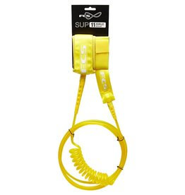 FCS FCS 11FT SUP Regular Leash Ankle Taxi Cab Yellow