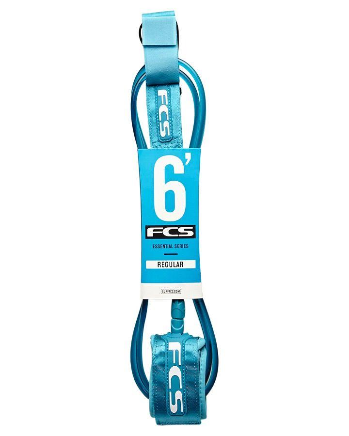 FCS FCS 6FT Premium Regular Shortboard Teal Surfboard Leash