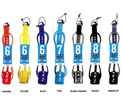FCS FCS 6FT Premium Regular Shortboard Blue Glass Surfboard Leash