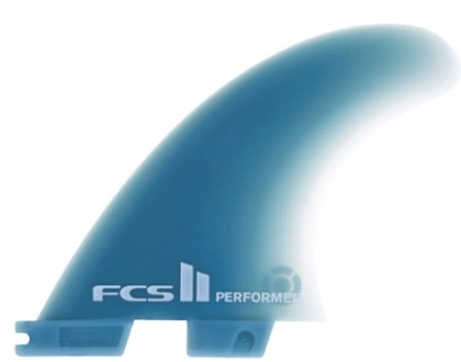 FCS FCS II Performer GF Tri Set Medium Thruster Surfboard Fins Stock