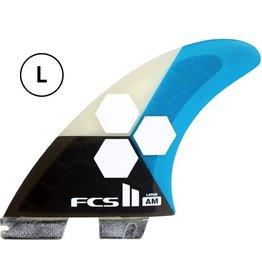 FCS FCS II AM PC Tri Set Large Teal Thruster Surfboard Fins Al Merrick<br /> FCS II AM PC Tri Set Small Yellow Thruster Surfboard Fins Al Merrick