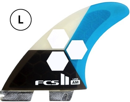 FCS FCS II AM PC Tri Set Large Teal Thruster Surfboard Fins Al Merrick<br /> FCS II AM PC Tri Set Small Yellow Thruster Surfboard Fins Al Merrick