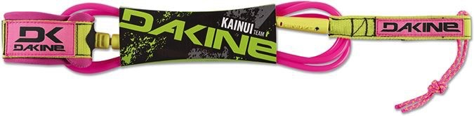 """Dakine Dakine Kainui Team 6' x 1/4"""" Pink Surfboard Leash"""