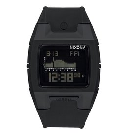 Nixon Nixon Lodown Silicone Watch Black Mens Surfing A281-000-00