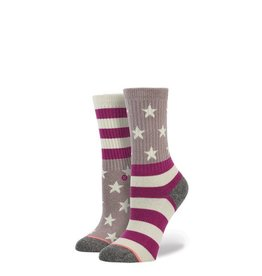 Stance Stance Freedom Rings Socks Girls Kids Large 2-5.5 Americana Classic Crew