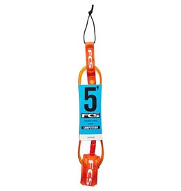 FCS FCS 5FT Premium Competition Shortboard Surfboard Leash Orange