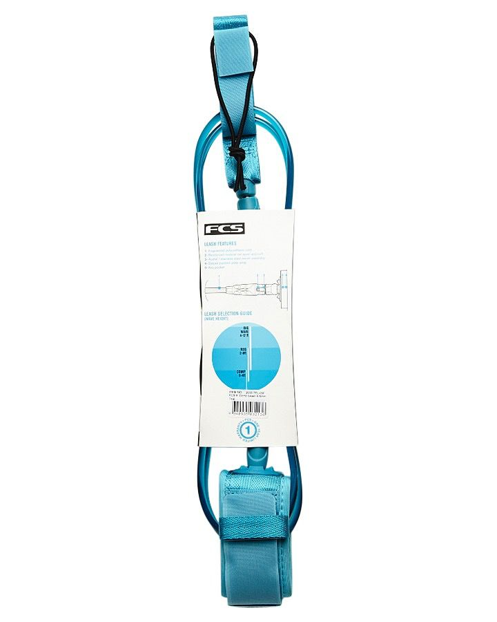FCS FCS 5FT Premium Competition Shortboard Surfboard Leash Teal