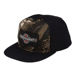 NHS INDEPENDENT / REYNOLDS PATCH ADJUSTABLE SNAPBACK HAT BLACK/MOSSY OAK