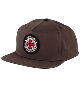 NHS INDEPENDENT / BTG PATCH ADJUSTABLE SNAPBACK HAT CHARCOAL