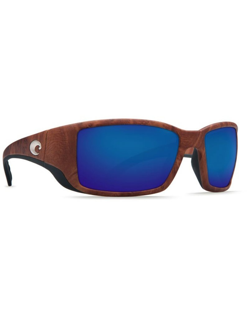 COSTA Costa Del Mar Blackfin Gunstock Blue Mirror Polarized Plastic Sunglasses
