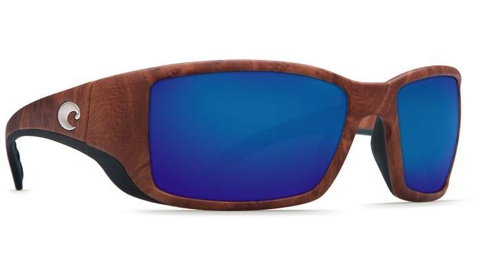 COSTA Costa Del Mar Blackfin Gunstock Blue Mirror Polarized Plastic Sunglasses